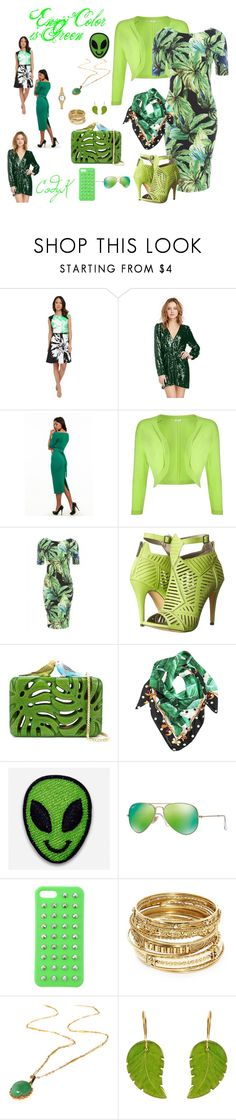 """""""Envy Green"""" by cody-k ❤ liked on Polyvore featuring Christin Michaels, Precis Petite, AX Paris, Michael Antonio, Sarah's Bag, Dolce&Gabbana, Hipstapatch, Ray-Ban, 4WE and ABS by Allen Schwartz"""