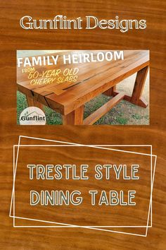 Marks 100th project as Gunflint Designs is a family heirloom table--the cherry used in this build has been all over the place before Mark figured out what to do with it. Watch this awesome build here!  #createwithconfidence #trestlestylediningtable #gunflintdesigns #diytable #diningtable