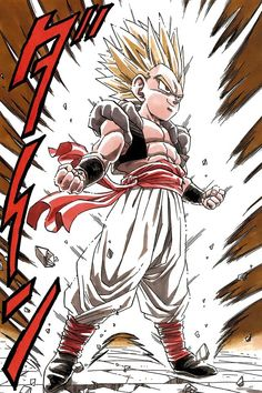 Gotenks. Fusion of Goten and Trunks via fusion dance.