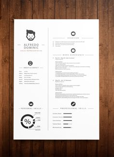 Beautiful and simple curriculum vitae template