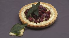 Blue Cheese, Sage and Beetroot Tart (Masterchef Australia) Food Art, A Food, Masterchef Australia, Tacos, Apples And Cheese, Tart Shells, Toasted Pecans, Latest Recipe, Veggie Recipes