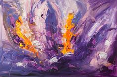 "Saatchi+Online+Artist+Florencia+San+Martin+Bruck;+Painting,+""Despertar+by+FSMB""+#art"
