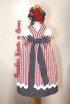 Girls Boutique  4th of July  Dress, Patriotic  Outfits, NB  upto  so 1