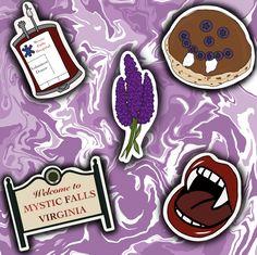 The Vampire Diaries Logo, Vampire Diaries Wallpaper, Vampire Diaries Damon, Vampire Dairies, Vampire Diaries The Originals, Tumblr Stickers, Cool Stickers, Printable Stickers, Vampire Drawings