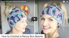 The Messy Bun Beanie! This style of hat allows you to have your hair up in a pony tail or bun and not have it look funny under the hat. The awesome thing...