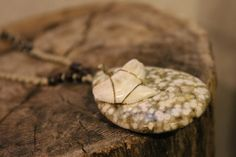 Natural Macrame Hemp Shark Tooth Necklace Eco by TheKnottyRatsNest, $20.00