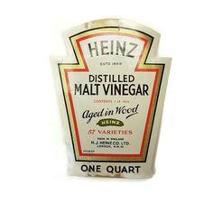 Bottle Labels, Vinegar, 1960s, Advertising, Jar, Sixties Fashion, Jars, Glass, White Vinegar