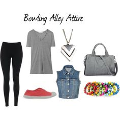"""Bowling Alley Attire"" by julielauren14 on Polyvore"
