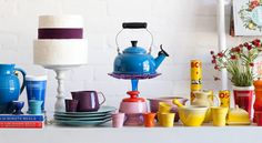 Minimalism isn't in your vocabulary. You like things bright and colourful, so let this registry collection spice things up.