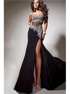 Elegent Split Front A-line Floor-length Evening/Prom Dress Evening Dresses 2014- ericdress.com 10856664 I believe I found my pageant dress :)