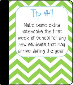 5 Tips for Maintaining Interactive Notebooks - I always make extra folders and notebooks. It saves so much work when new students arrive!