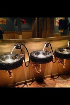 Man Cave Ideas 21 DIY Decor and Furniture Projects 34 A sink that is also a tire ! perfect idea for a man cave ! in tyre inner tube architecture with tire sink Repurposed man cave Car Furniture, Furniture Projects, Upcycled Furniture, Furniture Design, Man Cave Furniture, Handmade Furniture, Man Projects, Bedroom Furniture, Furniture Plans