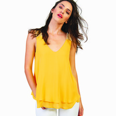 Refresh your wardrobe with a casual yellow blouse! Yellow Blouse, Summer Blouses, Body Measurements, Must Haves, Tank Tops, Casual, Model, How To Wear, Products