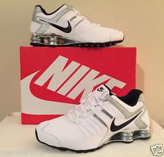 newest d3389 bf4fc Men s NIKE SHOX CURRENT Running Shoes WHITE   BLACK - METALLIC SILVER  633631 102  Nike