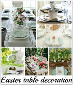 Swanocean: It's Friday I'm in Love-Easter table decoration