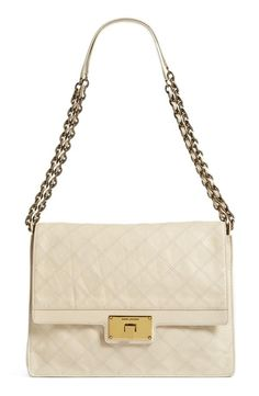 MARC JACOBS Leather Quilted Shoulder Bag