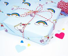 Unicorn Gift Wrap ∙ Wrapping Paper ∙ Birthday Gift Wrap ∙ Present Wrapping ∙ Bff Giftwrap ∙ Funny Wrapping Paper ∙ Unicorn Wrapping Paper Birthday Gift Wrapping, Birthday Gifts, Unicorn Stickers, Bff Gifts, Unicorn Gifts, Magical Unicorn, Cellophane Bags, Small Gifts, How To Draw Hands