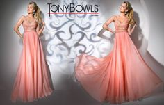 Tony Bowls TB11666 - Coral - Size 12 -Available at Stella's Bridal & Evening Collections
