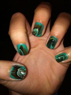 #peacock feather nails