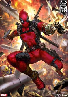 Deadpool: Heat Seeker Art Print by Derrick Chew Dead Pool, Marvel Comics Art, Marvel Heroes, Games Online, Tinta Epson, Deadpool Art, Deadpool Cosplay, Toy Story Figures, Avengers