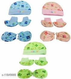 Checkout this latest Caps Product Name: *Imported New Born Baby  Cap Mitten And Botties Age Group (0-6months)* Imported New Born Baby  Cap Mitten And Botties Age Group (0-6months) Country of Origin: India Easy Returns Available In Case Of Any Issue   Catalog Rating: ★4.1 (615)  Catalog Name: Check out this trending catalog CatalogID_2248344 C63-SC1195 Code: 363-11849009-678