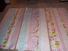 Just Four Sisters: Girly Rag Quilt Tutorial