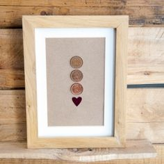 Use pennies from certain years to create easy and inexpensive meaningful art. Use your birth years, marriage year, child birthdays, etc