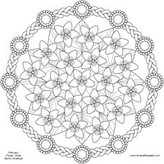 Spring Flower Mandala coloring Pages, Pattern Mandala, Free Printable Mandala Coloring Pages, Flower Mandala Black and White Template, lineart, mandala, printables, cool teen crafts