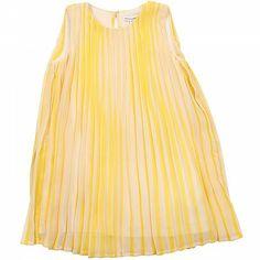 Yellow & Cream Girls Shift Dress