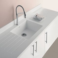 Corian Worktops, Corian Sink, Kitchen Worktop, Kitchen Tops, Ikea Kitchen, Kitchen Sink, Utility Room Sinks, Kitchen Diner Extension, Modern Kitchens