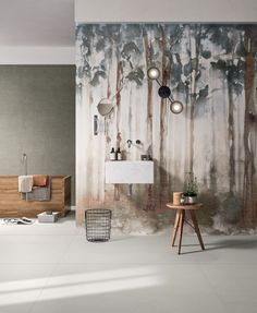 Indoor porcelain stoneware wall tiles with textile effect DREAM WOODS by CERAMICA FONDOVALLE