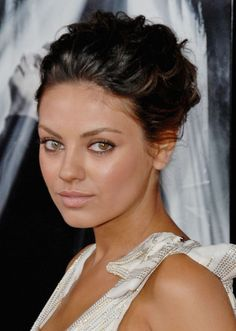 mila kunis hair updo - Google Search More
