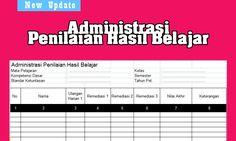 Format Administrasi Penilaian Hasil Belajar Siswa SD SMA dengan Microsoft Excel