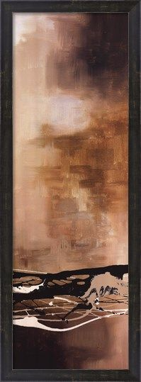 ABSTRACT ART PRINT Tobacco and Chocolate III Laurie Maitland