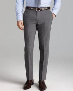 Hugo Boss Hugo Hamens Trousers Slim Fit in for Men (Grey) - Lyst Formal Trousers For Men, Formal Shirts For Men, Formal Pants, Slim Fit Trousers, Grey Pants Outfit, Mens Dress Pants, Men's Pants, Style Costume Homme, Formal Men Outfit