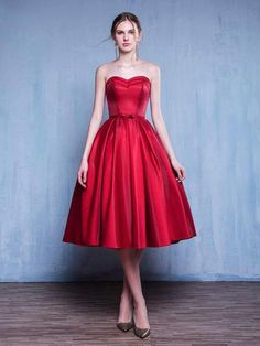 Cheap Colorful A-Line Prom Dress, Prom Dress Red, Short Prom Dress, Simple Prom Dress Homecoming Dress Modest Prom Dress Homecoming Dress Short Prom Dress A-Line Homecoming Dress For Cheap Prom Dresses 2019 Red Homecoming Dresses, A Line Prom Dresses, Beautiful Prom Dresses, Tea Length Dresses, Strapless Dress Formal, Evening Dresses, Dress Prom, Simple Cocktail Dress, Simple Prom Dress