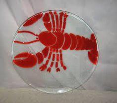 Image result for fused glass lobster