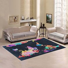 Love Nature Sweet Home Modern Collection Custom World Map Area Rug 7x5 Indoor Soft Carpet * Read more reviews of the product by visiting the link on the image.-It is an affiliate link to Amazon. #AreaRugsRunnersPads
