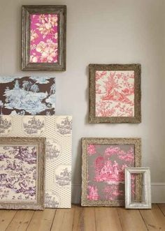 Frame a fabric or wallpaper sample.