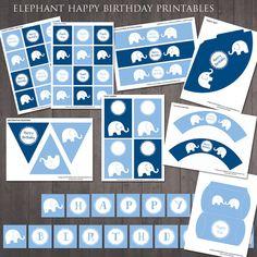 Elefant Geburtstag-Partydekorationen von RubyAndTheRabbit auf Etsy