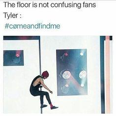 it looks like he's on a pole