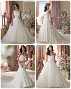 The Subtle Colors In David Tutera's Dresses on itsabrideslife.com/Colored Wedding Dresses/Pink Wedding Dresses