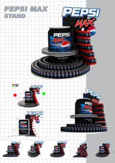 Pepsi Stand by Ahmed Behery, via Behance Pop Display, Display Design, Display Shelves, Exhibition Stall, Exhibition Display, Point Of Sale, Point Of Purchase, Pos Design, Retail Design