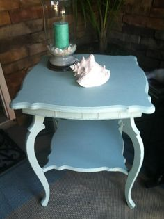 Side table in living room