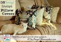 Easy DIY pillow covers. Takes minutes!