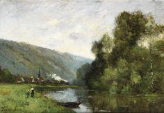Barbizon School, Vintage Artwork, Impressionist, French Vintage, Modern Art, Landscape, Prints, Painting, Romanticism