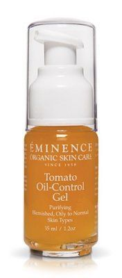 Eminence Organic Skincare. Tomato Oil-Control Gel by Eminence Organic Skin Care. $42.48. Organic. Handmade. Reduces irritation. Improves acne skin conditions. Anti-blemish and Oil Free Hydration. Skin Type: Oily to normal, combination, blemish and acne skin types