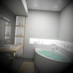 Banheiros Pequenos - http://dicasdecoracao.net/banheiros-pequenos/