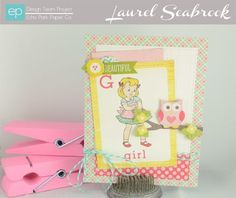 Beautiful Girl Card from Sweet Girl Collection. #echoparkpaper