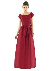Alfred Sung Style D555    #red #bridesmaid #dress
